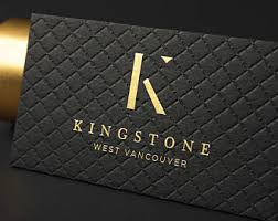 black business card etsy
