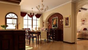 Dining Room Accent Wall by Dining Room Classic Vanilla Dining Room Come With Built In Brown