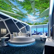 online get cheap custom photo wall murals aliexpress com custom photo wall mural wallpaper 3d ultra hd forest sky ceiling fresco wall murals for living