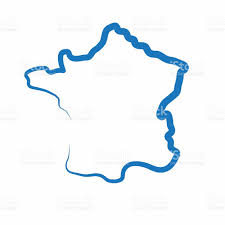 france outline map made from a single line stock vector art