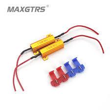 load resistors for led lights 4x universal add on 50w 6 8 ohm led load resistor car led light