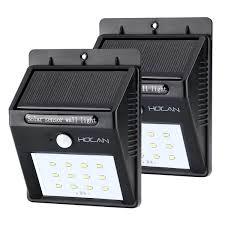 Holan 12 Led Solar Motion Sensor Lights 2 Pack Holan Technology