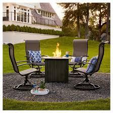 camden 4 pc sling swivel rocker patio dining chairs threshold