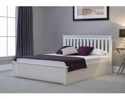 ottoman beds with mattress emporia freya 6ft super kingsize white wooden ottoman bed by emporia
