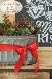 make it fun blog succulent and berry centerpiece