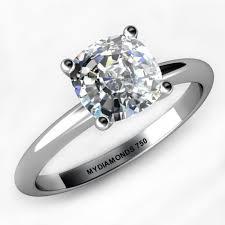cushion diamond ring coco certified cushion cut diamond solitaire ring