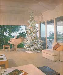 at midcentury when aluminum trees replaced