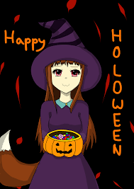 anime happy halloween happy holo ween spice and wolf halloween fanart by kat515 on