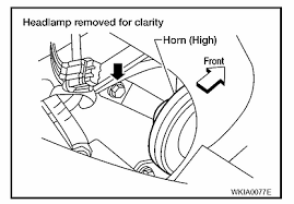 solved where is the horn on a 2006 maxima and wiring fixya
