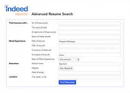 find resume how to use indeed s advanced resume search to find great