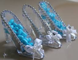 glass slipper party favor wedding favor cinderella shoes for princess or fairytale wedding
