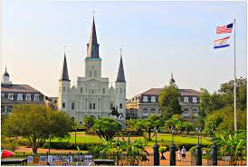 Tourist Map Of New Orleans by New Orleans Homes And Neighborhoods Jackson Square In New Orleans