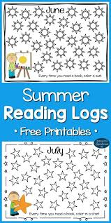 summer reading logs for kids free printables reading logs
