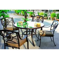 Patio Furniture 5 Piece Set - cast aluminum patio dining set with rectangular table ultimate
