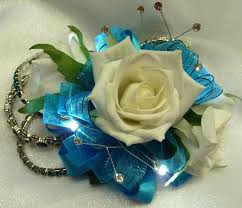 turquoise corsage now and forever corsages led corsages and boutonnieres now and
