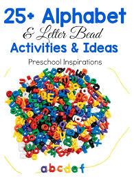 the best alphabet bead activities and ideas preschool inspirations