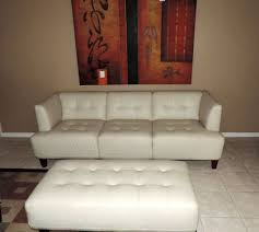 here is a beautiful alessia pearl leather tufted sofa by macy u0027s