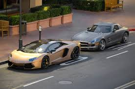 gold lamborghini file matte gold lamborghini aventador and matte gray mercedes sls