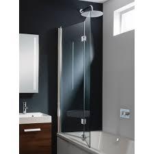 Inward Opening Shower Door Bath Screen Dual Inward Opening