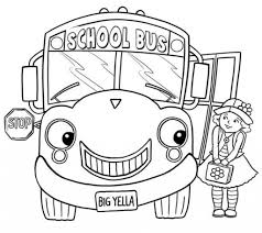 little and bus coloring page transportation coloring