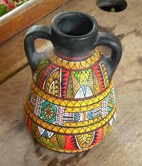 Clay Vase Painting Buchan Thistle Pottery Vases Beautiful Handmade Ceramic Flower