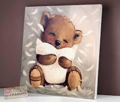 cadre ourson chambre bébé tableau ourson au coussin 79 tableau nounours tableaux peinture