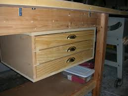 Ideas For Workbench With Drawers Design Workbench Drawers By Davelehardt Lumberjocks Woodworking