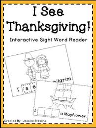 i see thanksgiving interactive sight word reader by jessibelle tpt