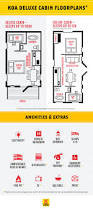 cabin floor plan cabin and vacation rentals deluxe cabin camping koa camping