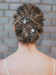 hair pins pearl and rhinestone flower hair pin camille bridal hair