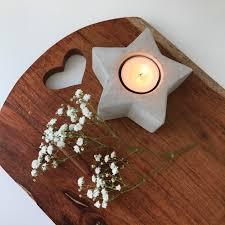 single star concrete tea light holder kirsten u0026 belle