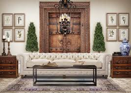 Eclectic Living Room Design With Chesterfield Sofa Eclectic - Family room sofas