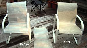 Pvc Outdoor Chairs How To Make Sling Seats For A Pvc Chair Youtube