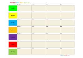 meal plan builder app diet weekly meal planner template 368039
