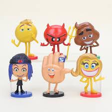 alibaba jailbreak 6pcs set hot emoji movie action figures hi 5 jailbreak gene poop ice