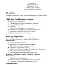 Cpa Resume Samples by Retail Cover Letter Sample Entry Level Resume Templates Terrific