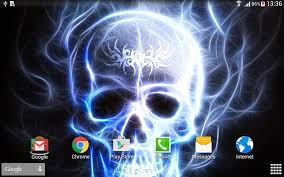 live halloween background skulls live wallpaper android apps on google play