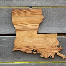 wood cutout wall louisiana state shape wood cutout wall from state your