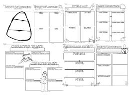 fourth and ten halloween themed reading graphic organizers