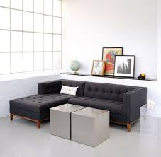 apartment size coffee tables dark grey contemporary apartment sofa with tufted fabric details