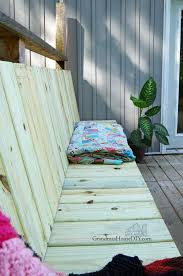 Wood Bench Plans Deck by Outdoor Bench For Our Deck Diy Wood Working Project Tutorial