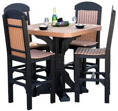 cedar dining room table 41 inch square table with regular chairs u2013 cedar u0026 black at bar
