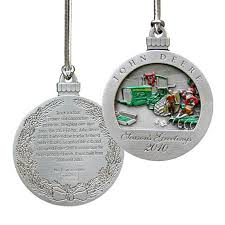 deere limited edition 2010 pewter ornament 15th