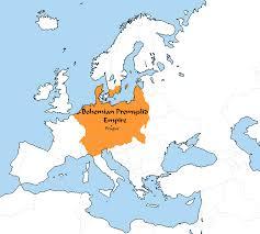 Bohemia Map Image Bohemian Přemyslid Empire 2015 Png Thefutureofeuropes