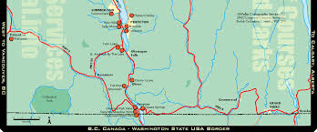 canadian map cities large highway map of okanagan region of bc city towns kamloops