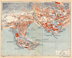 monte carlo map large detailed map of monaco monte carlo 1921 vidiani com
