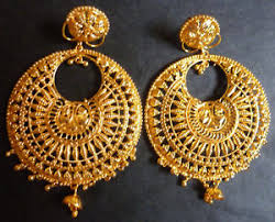 gold bridal set 22k gold plated wedding jhumka earrings bridal set b ebay
