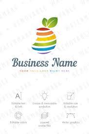 fruit globe logo template 65860