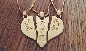 personalized heart pendant custom heart pendant set 3 pc jewelryudesign groupon