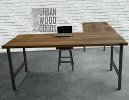 rustic l shaped desk build l shaped desk rustic l shaped desk build reclaimed wood l